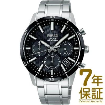 【国内正規品】WIRED ワイアード 腕時計 SEIKO セイコー AGAD414 メンズ クロノグラフ ソーラー