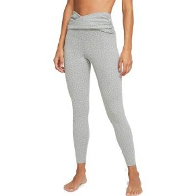 ナイキ レディース カジュアルパンツ ボトムス Nike Women's Yoga Dots Twist 7/8 Capri Tights Particle Grey