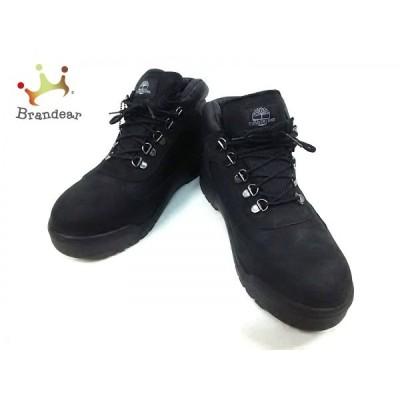 ティンバーランド Timberland ショートブーツ メンズ 黒 ヌバック×レザー×化学繊維   スペシャル特価 20200723