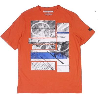 SEAN JOHN ショーンジョン ヨットプリント 半袖クルーネック Tシャツ (オレンジ) 並行輸入品