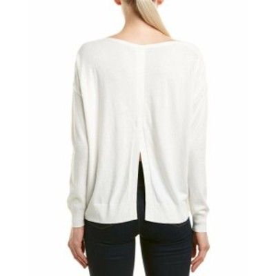 French Connection フレンチコネクション ファッション トップス French Connection Vented Back Silk-Blend Sweater S White