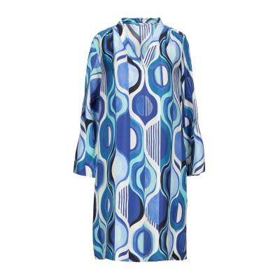 カリバン CALIBAN ミニワンピース&ドレス ブルー 38 シルク 100% ミニワンピース&ドレス