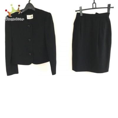 ミスアシダ miss ashida スカートスーツ サイズ9 M レディース 黒 肩パッド 新着 20210617