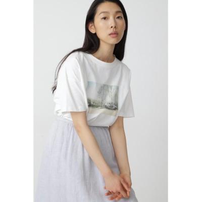 【ヒューマンウーマン】 ◆フォトプリントTシャツ レディース ホワイト M HUMAN WOMAN