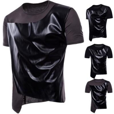 メンズ 半袖 Tシャツ カットソー クルーネック カジュアルTシャツ ヒップホップ服 ストリート系 ビター系
