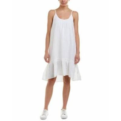 Lilla P  ファッション ドレス Lilla P Linen-Blend Midi Dress M White