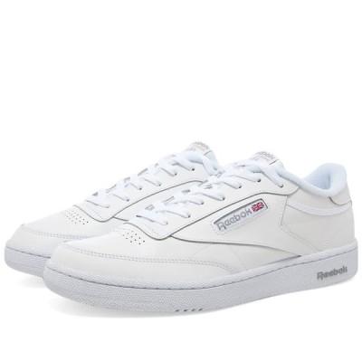 リーボック Reebok メンズ スニーカー シューズ・靴 Club C 85 White/Sheer Grey