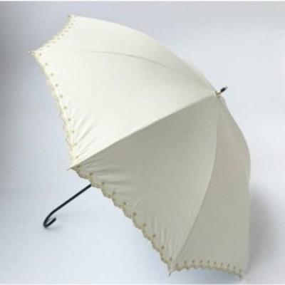 日傘 長傘 レディース 軽量 UVカット 紫外線対策 紫外線 遮光 断熱効果 パラソル 星柄 刺繍 ゴールド スカラップ 日傘 長傘 レディース