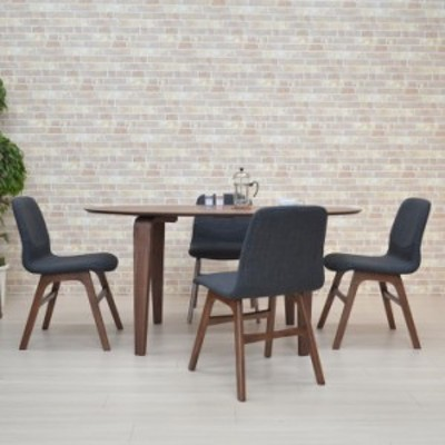 ダイニングテーブルセット 5点 楕円 幅150 marut150-5-pani339wn オーバル ウォールナット色 DGY色 4人 アウトレット 22s-6k