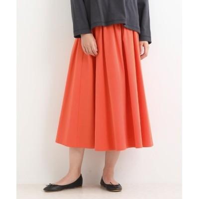 NIMES/ニーム カラーツイル ギャザースカート オレンジ フリー
