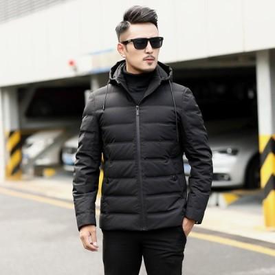 ダウンジャケット フード付きジャケット秋冬 保温大きいサイズダウンコート ウエア アウター 防風防寒 男性ウエア カジュアル 送料無料 メンズ