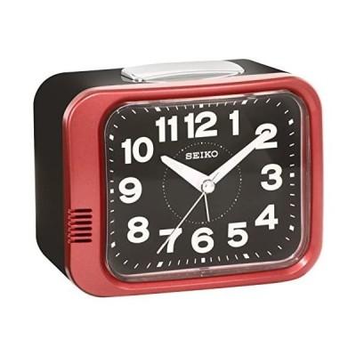 セイコー クロック 目覚まし時計 アナログ 赤 メタリック KR896R SEIKO (赤)
