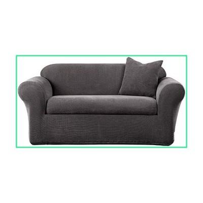 SureFit Stretch Metro Sofa Slipcover, Gray, 2 Piece