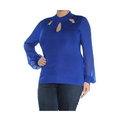 I-N-C Womens Cutout Knit Sweater, Blue, X-Large並行輸入品 送料無料