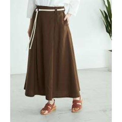 COMME CA ISM(コムサイズム)バックルベルト付 フレアスカート
