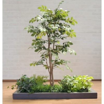 マウンテンアッシュの木 ガーデニングセットGY (造花 人工観葉植物 インテリア 庭 ナナカマド系)