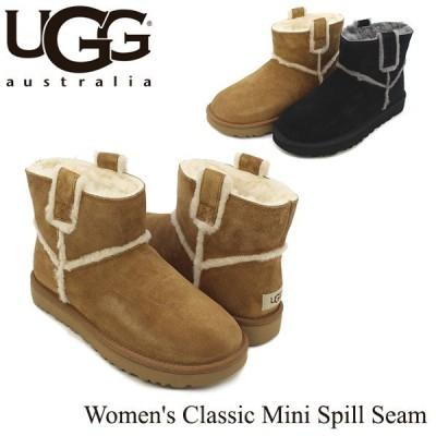 アグ UGG ウィメンズ クラシック ミニ スピル シーム Women's Classic Mini Spill Seam ブーツ ショート[CC]