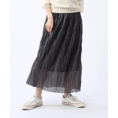 UNTITLED(アンタイトル) 【洗える】シアープリーツスカート