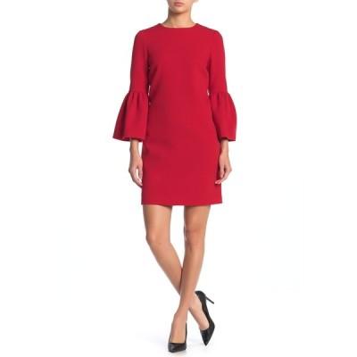 スイスタジオ レディース ワンピース トップス Wool Ruffle Dress RED