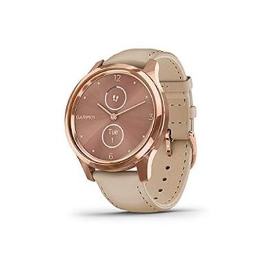 Garmin Vívomove 3S、ハイブリッドスマートウォッチ、本物の時計の針と隠しタッチスクリーンディスプレイ付き。 010-02241-01