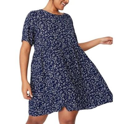 コットンオン レディース ワンピース トップス Women's Trendy Plus Size Good Times Babydoll Mini Dress