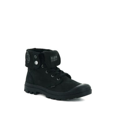パラディウム メンズ ブーツ&レインブーツ シューズ Pampa Baggy Folded Cuff Sneaker Boot BLACK