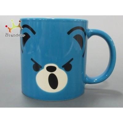ヒステリックグラマー HYSTERIC GLAMOUR マグカップ 新品同様 ブルー×黒×アイボリー 陶器 新着 20200907