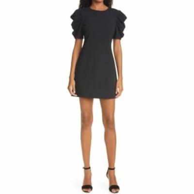 アリス アンド オリビア ALICE + OLIVIA レディース ワンピース ワンピース・ドレス Hanita Ruched Sleeve Shift Minidress Black