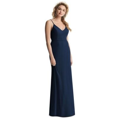 アフターシックス ワンピース トップス レディース Draped-Back Sleeveless Gown Midnight Blue