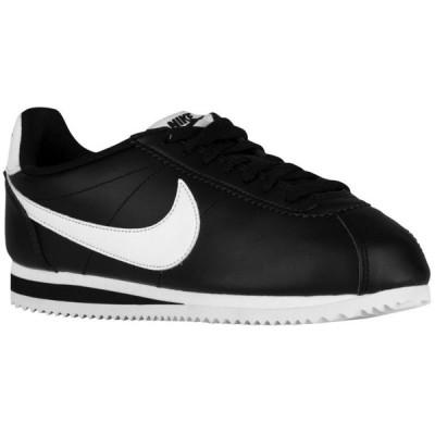 ナイキ レディース クラシック コルテッツ Nike Classic Cortez スニーカー Black/White/Black | Leather