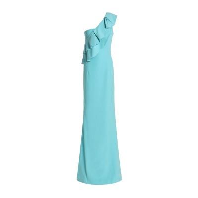 BLACK HALO EVE by LAUREL BERMAN ロングワンピース&ドレス ターコイズブルー 4 ナイロン 62% / レーヨン 32