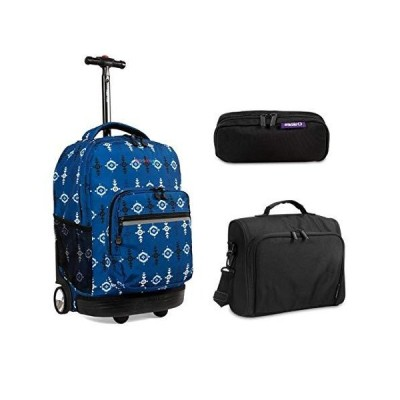 J World New York Sunrise Rolling Backpack & Corey Lunch bag Set (Sunrise w/Casey & Jojo, Totem) 並行輸入品