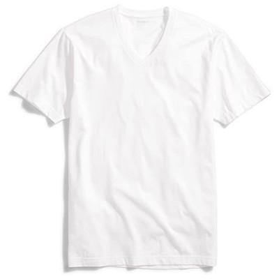 メンズ スリムフィット Vネック コットン Tシャツ(s2103101390)