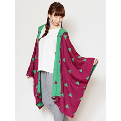 【カヤ】-attakee- 紋色フード羽織り パープル
