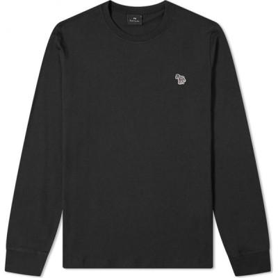 ポールスミス Paul Smith メンズ 長袖Tシャツ ロゴTシャツ トップス long sleeve zebra logo tee Black