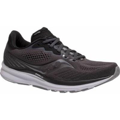 サッカニー メンズ スニーカー シューズ Men's Saucony Ride 14 Running Sneaker Charcoal/Black