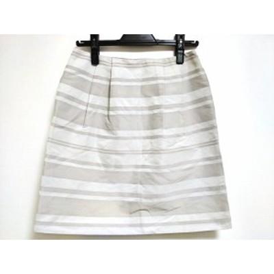 トゥモローランド TOMORROWLAND ミニスカート サイズ38 M レディース 美品 ライトグレー×グレー ラメ/ボーダー【中古】