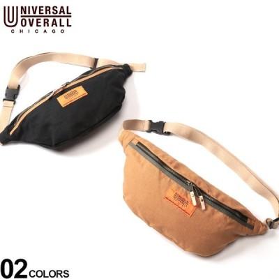 ウエストバッグ 大きいサイズ メンズ サカゼン ロゴ ジップ開き 小物 鞄 UNIVERSAL OVERALL