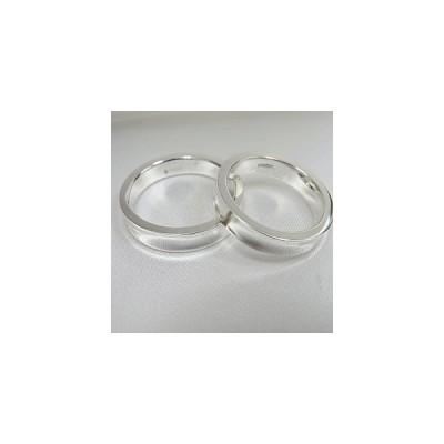 刻印対応シルバー925 ペアリング 平打ちリング(へこみ)マリッジリング/結婚指輪