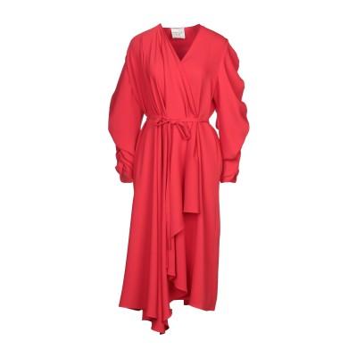 アウェイク A.W.A.K.E. MODE 7分丈ワンピース・ドレス レッド 36 ポリエステル 100% 7分丈ワンピース・ドレス