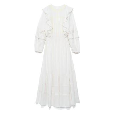 <CASA FLINE(Women)/カーサフライン> カラーエンブロイダリードレス WHITE【三越伊勢丹/公式】