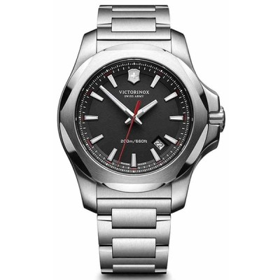 ビクトリノックス 腕時計 Victorinox 241723 Swiss Army I.N.O.X Black Dial Stainless Steel メンズ Watch