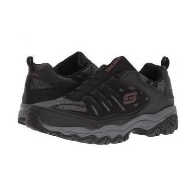 SKECHERS スケッチャーズ メンズ 男性用 シューズ 靴 スニーカー 運動靴 After Burn M. Fit - Black/Charcoal