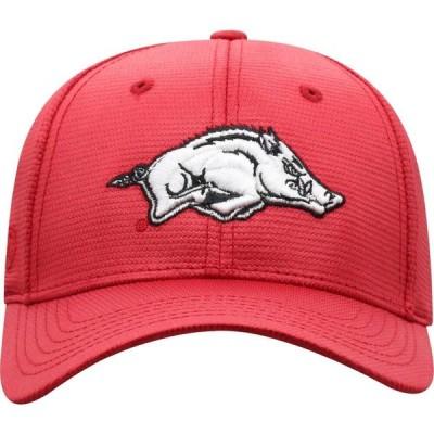トップオブザワールド Top of the World メンズ キャップ 帽子 Arkansas Razorbacks Cardinal Progo 1Fit Flex Hat