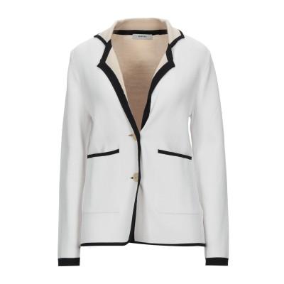 アルファスタジオ ALPHA STUDIO テーラードジャケット ホワイト 38 レーヨン 65% / ナイロン 35% テーラードジャケット