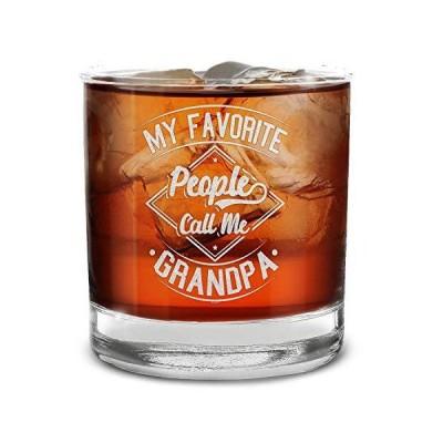 送料無料!Shop4ever My Favorite People Call Me Grandpa 刻印ウイスキーグラス 祖父への父の日のギフト 11 oz. クリ