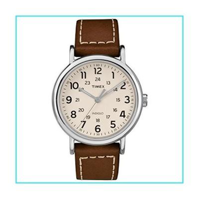 Timex Men's TW2R42400 Weekender 40mm Brown/Cream Two-Piece Leather Strap Watch【並行輸入品】