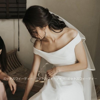 ウェディングドレス 白 二次会 花嫁 スレンダードレス 海外挙式 パーティードレス 披露宴 ブライダル シンプル 結婚式 ロングドレス 演奏会 すっきり 前撮り