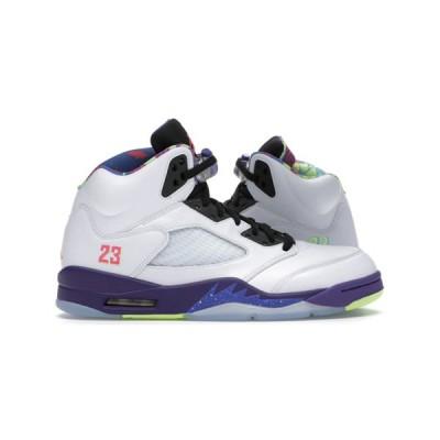 AIR JORDAN 5 RETRO GS 'ALTERNATE BEL-AIR' エア ジョーダン 5 オルタネイト ベルエア 【BOY'S】 white/court purple-racer pink-ghost green DB3024-100