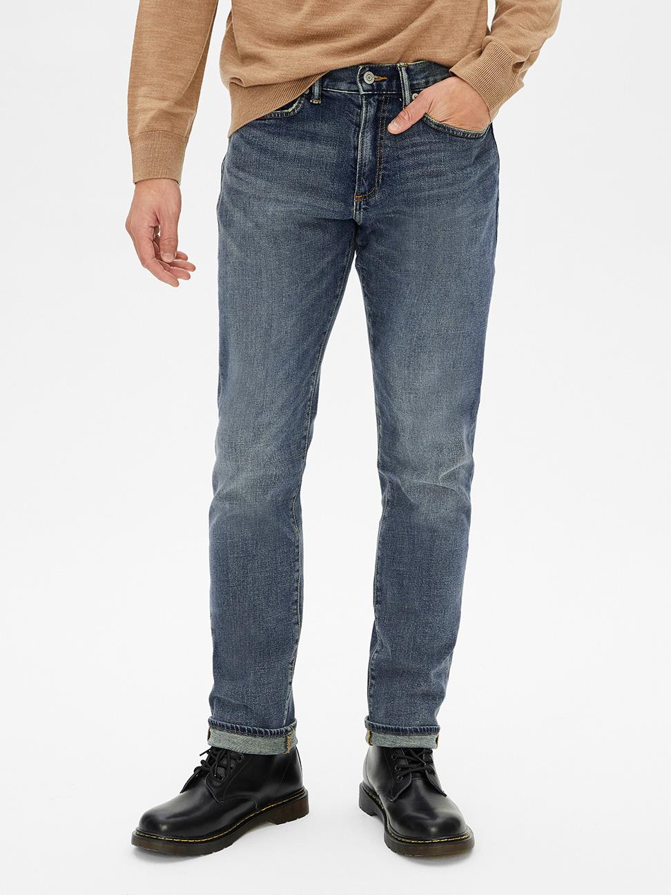 男裝 休閒直筒牛仔褲